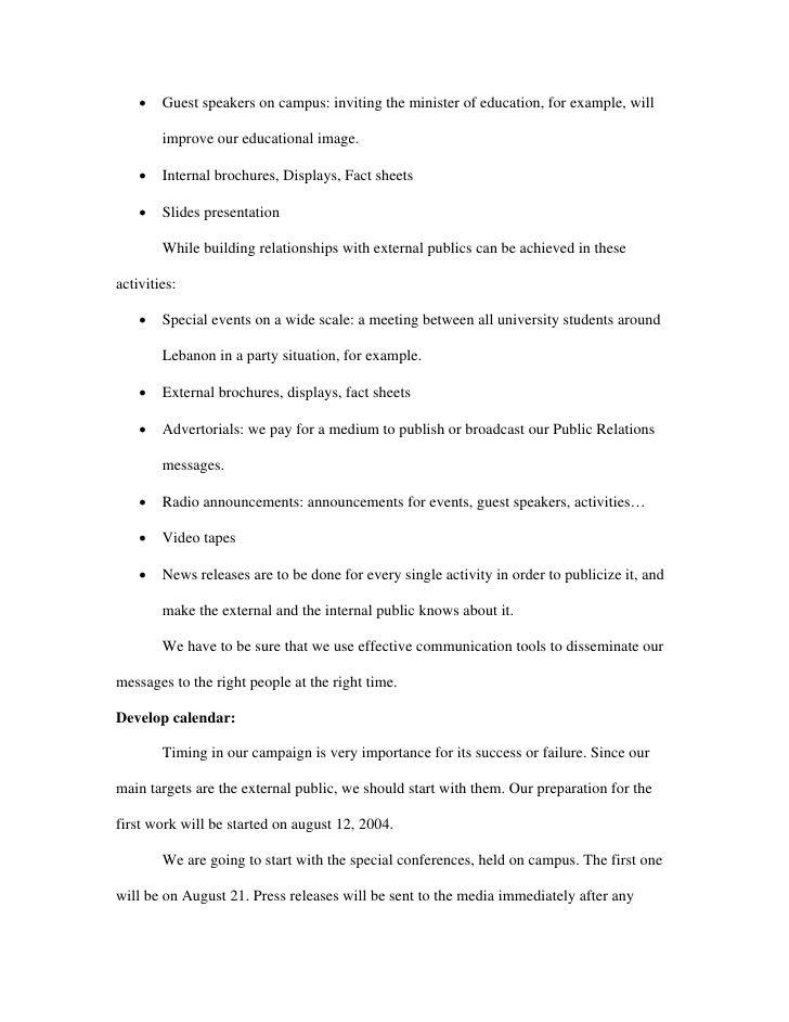 NDU Term Paper | Public Relations