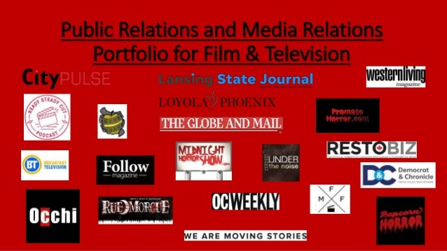 Public Relations and Media Relations Portfolio for Film & Television