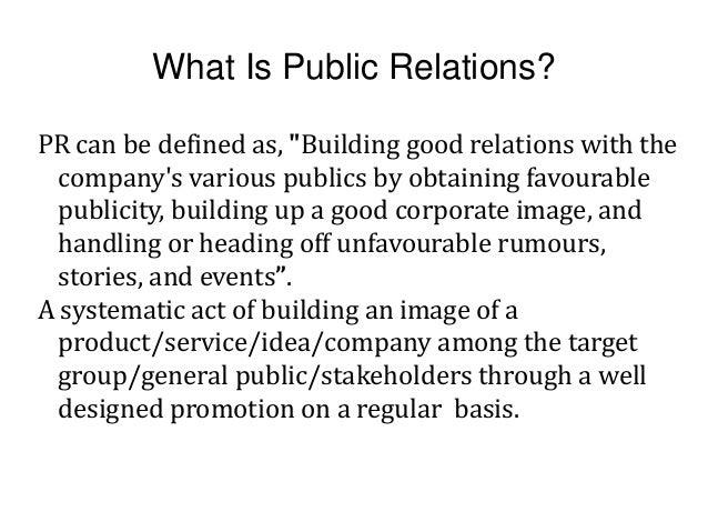 public relations examples