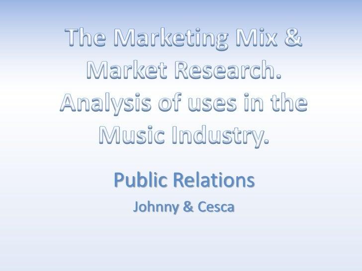 Public Relations  Johnny & Cesca