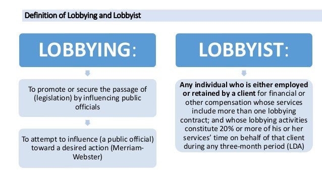 the political definition of lobbying Definition of lobbying in the legal dictionary - by free online english dictionary and encyclopedia what is lobbying meaning of lobbying as a legal term what does lobbying mean in law.