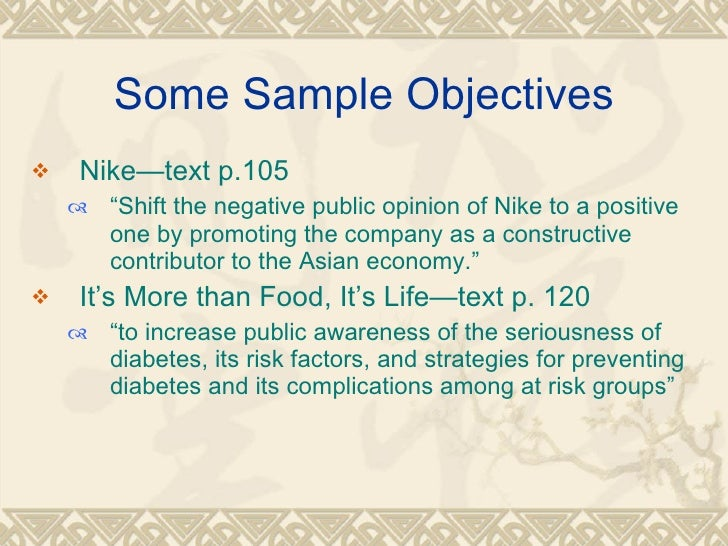 nike aims and objectives Revise gcse business studies aims and organisation module including topics aims and activities, limited companies, sole traders and partnerships, public sector and.