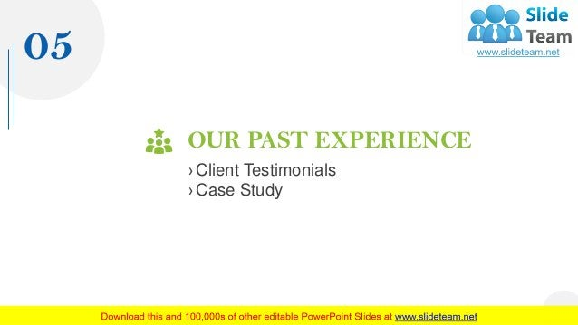OUR PAST EXPERIENCE › Client Testimonials › Case Study 05 19