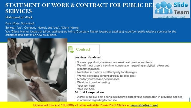 Contract › 3 week opportunity to review our week and provide feedback › We will meet once a month for consultation regardi...