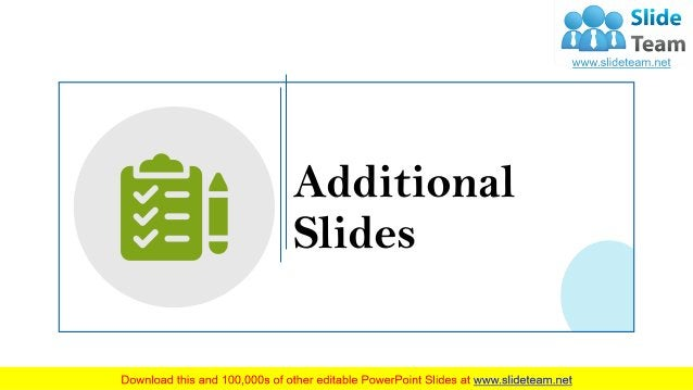 29 Additional Slides