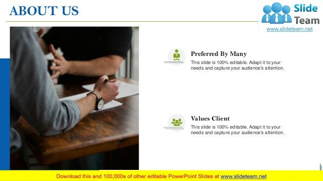 ABOUT US 34 Preferred By Many This slide is 100% editable. Adapt it to your needs and capture your audience's attention. V...