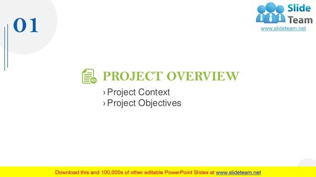 PROJECT OVERVIEW › Project Context › Project Objectives 01 4