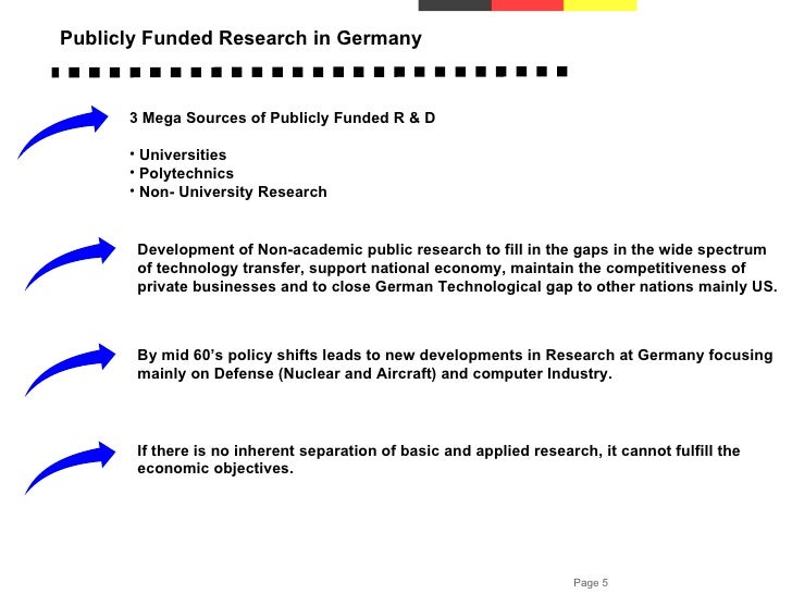 Public research and innovation in Germany