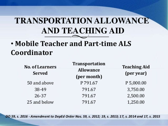 Public School Teachers' Benefits