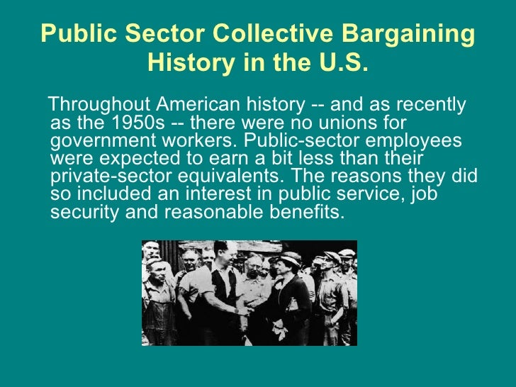 a history of the invention of collective bargaining Canada's labour movement has a long history of improving workers' everyday  lives  that means unions can cover the cost of bargaining, enforcing collective  agreements, and campaigns that  that led to the creation of the clc in 1956.