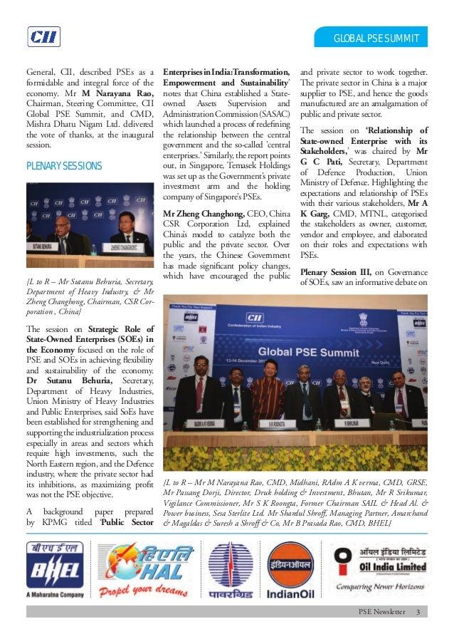 Public Sector Enterprises Newsletter, January 2014 Slide 3