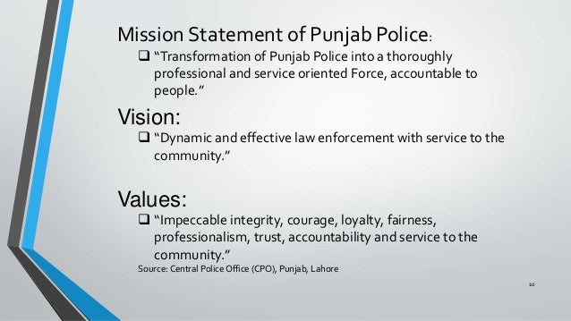 Public Security And Punjab Police Proformace