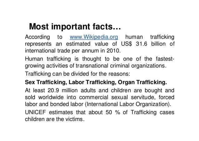 college essay on human trafficking