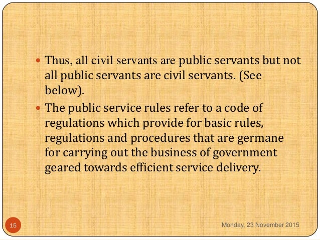 difference between public and civil servant