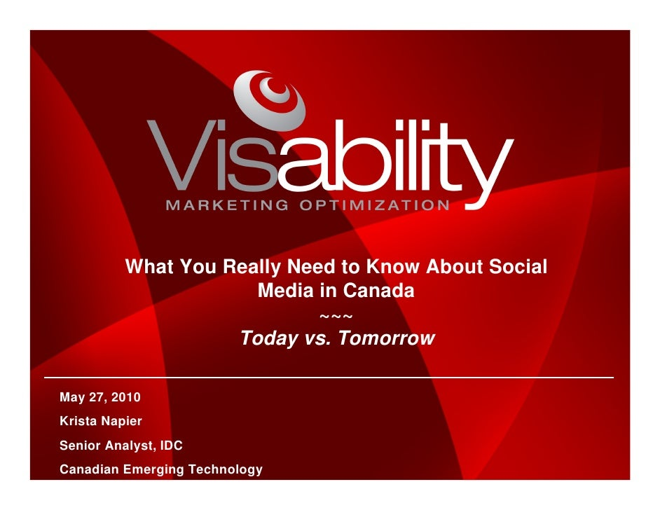 What You Really Need to Know About Social                       Media in Canada                              ~~~          ...