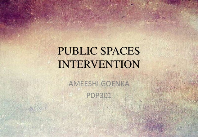PUBLIC SPACES INTERVENTION AMEESHI GOENKA PDP301