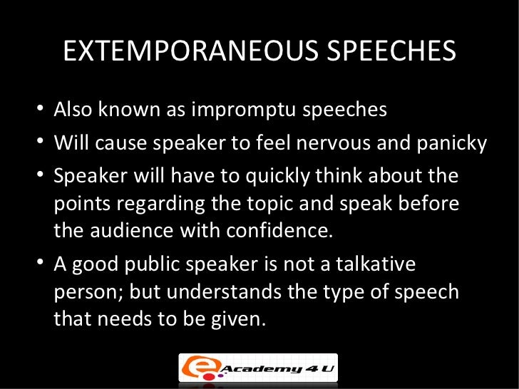 extemporaneous writing Start studying extemporaneous writing 2017 learn vocabulary, terms, and more with flashcards, games, and other study tools.