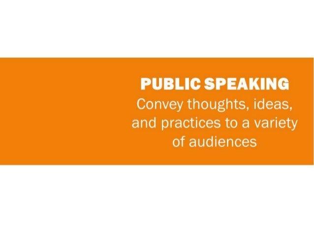 Public Speaking & Presenting