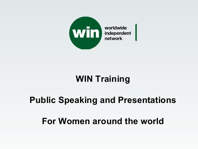 WIN Training Public Speaking and Presentations For Women around the world