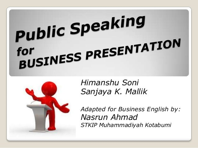 Public Speaking & Presentations