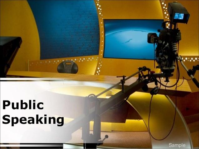 Public Speaking Sample