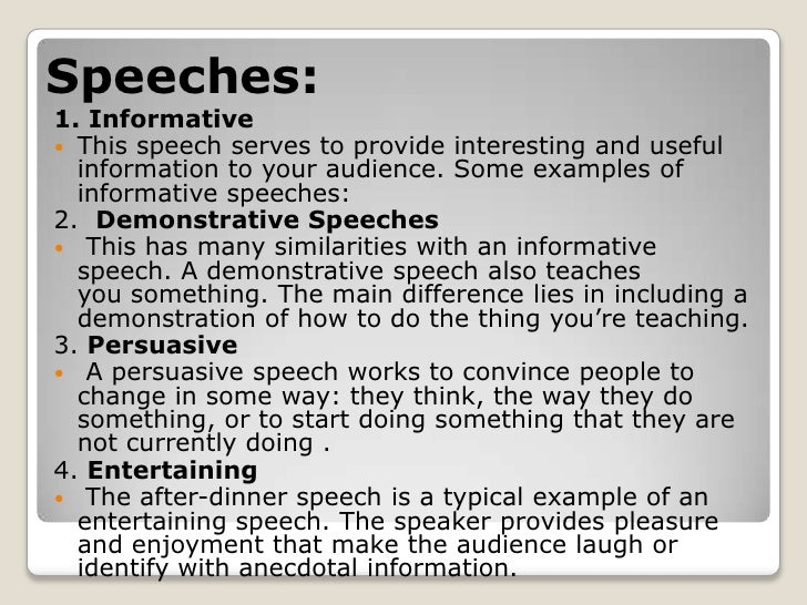 writing a short informative speech There are many steps involved in writing an informative speech and some of the steps can be very difficult the first step is, of course, finding an informative speech topic the hard way is to choose a category, and to narrow it down to a manageable topic.