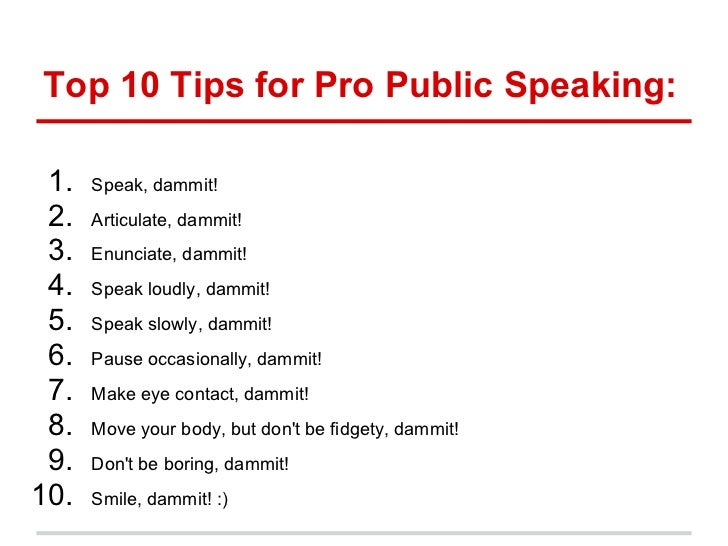 Public Speaking Sample Presentation