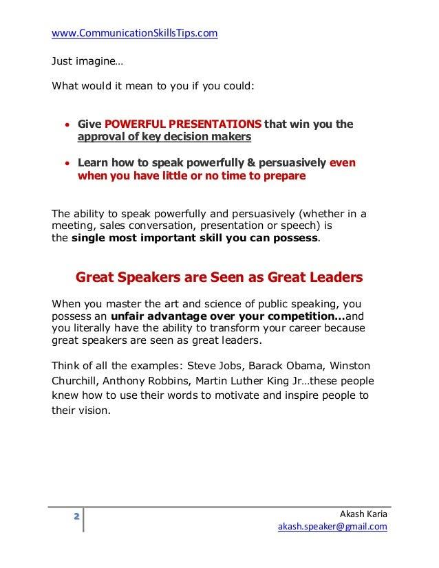 Public speaking training course improve presentation skills Slide 2