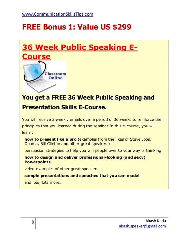 Public Speaking Classes, Programs & Training Courses