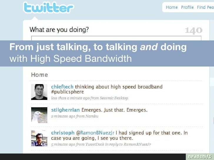 From just talking, to talking and doing with High Speed Bandwidth
