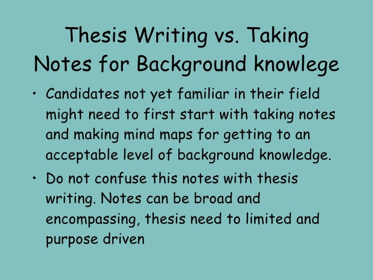 thesis as contrasted with purpose