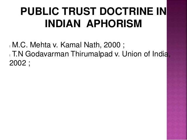 M.C. MEHTA vs. UNION OF INDIA
