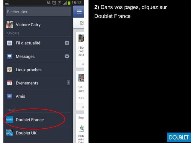 2) Dans vos pages, cliquez sur Doublet France