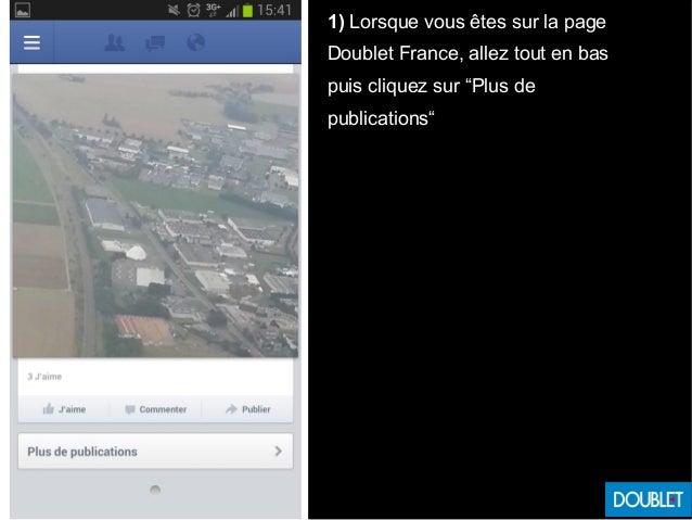 """1) Lorsque vous êtes sur la page Doublet France, allez tout en bas puis cliquez sur """"Plus de publications"""""""