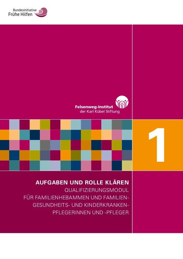 AUFGABEN UND ROLLE KLÄREN QUALIFIZIERUNGSMODUL FÜR FAMILIENHEBAMMEN UND FAMILIEN- GESUNDHEITS- UND KINDERKRANKEN- PFLEGERI...