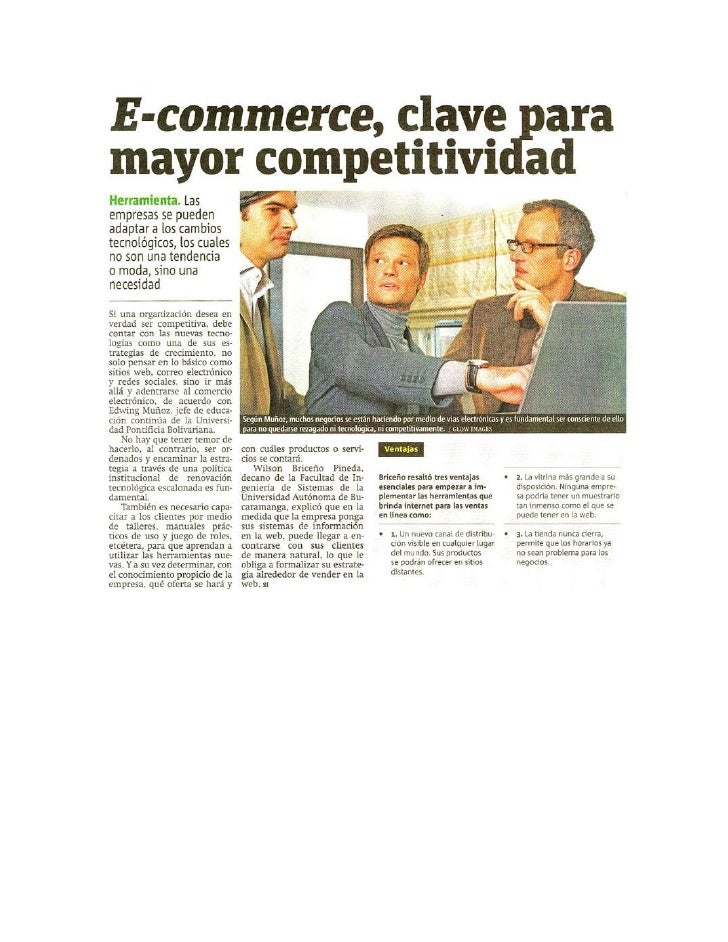 E-commerce clave para mayor competitividad