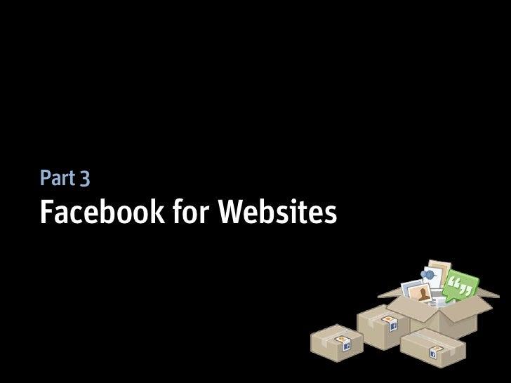 Part 3Facebook for Websites