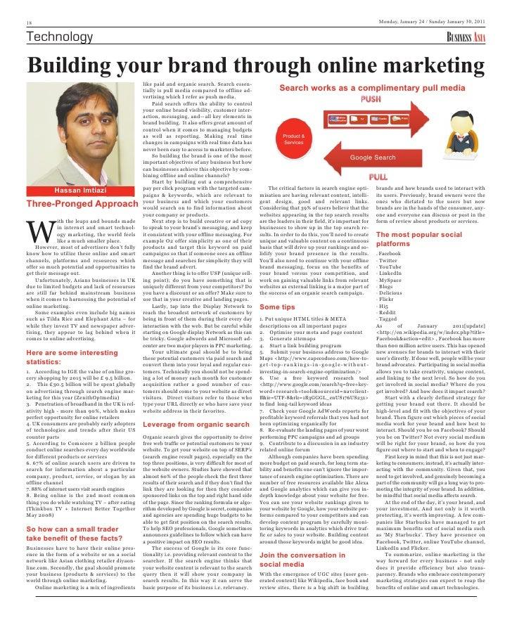 Building brand through online marketing