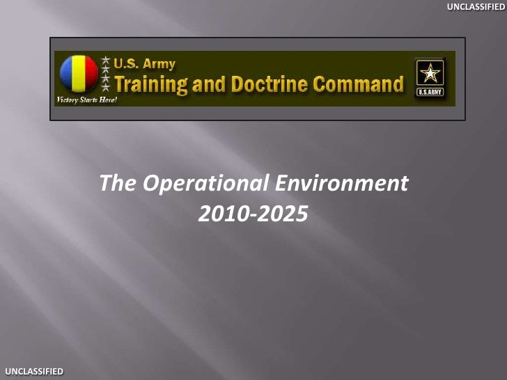 The Operational Environment<br />2010-2025<br />