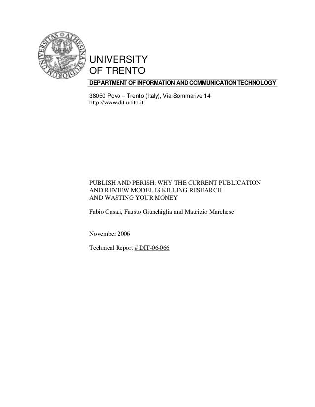 UNIVERSITYOF TRENTODEPARTMENT OF INFORMATION AND COMMUNICATION TECHNOLOGY38050 Povo – Trento (Italy), Via Sommarive 14http...