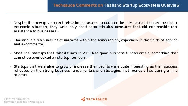 HTTP://TECHSAUCE.CO COPYRIGHT 2019 TECHSAUCE CO.,LTD • Despite the new government releasing measures to counter the risks ...