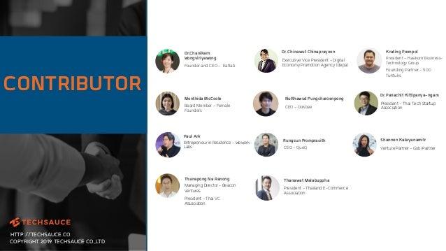 HTTP://TECHSAUCE.CO COPYRIGHT 2019 TECHSAUCE CO.,LTD CONTRIBUTOR Entrepreneur in Residence - Wework Labs Paul Ark Krating ...