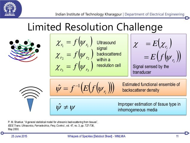 """Limited Resolution Challenge 11 r1 r2 r3 P. M. Shankar, """"A general statistical model for ultrasonic backscattering from ti..."""