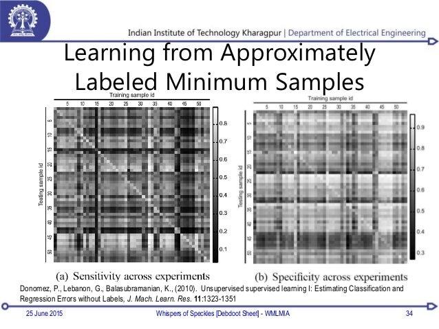 Learning from Approximately Labeled Minimum Samples 25 June 2015 34 Donomez, P., Lebanon, G., Balasubramanian, K., (2010)....