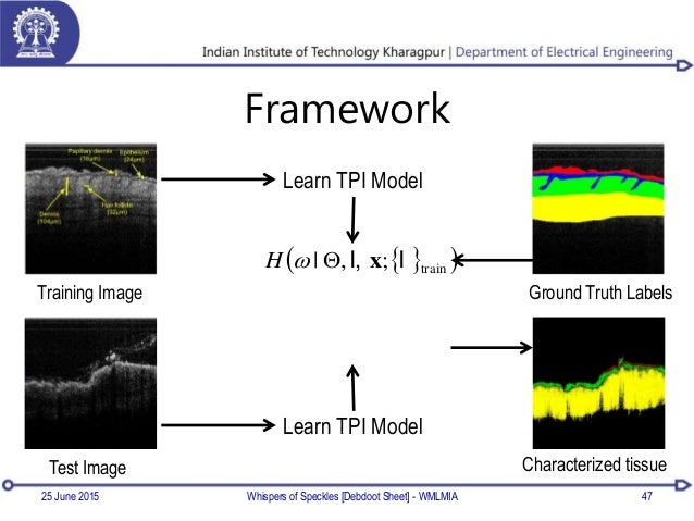 Framework 25 June 2015 Whispers of Speckles [Debdoot Sheet] - WMLMIA 47 Learn TPI Model Training Image Ground Truth Labels...