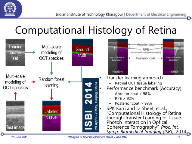 Computational Histology of Retina • Transfer learning approach – Retinal OCT tissue labeling • Performance benchmark (Accu...