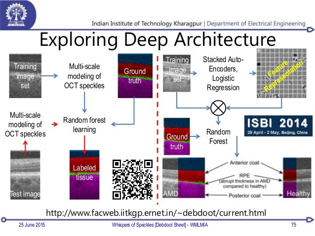 Exploring Deep Architecture 25 June 2015 Whispers of Speckles [Debdoot Sheet] - WMLMIA 75 Multi-scale modeling of OCT spec...