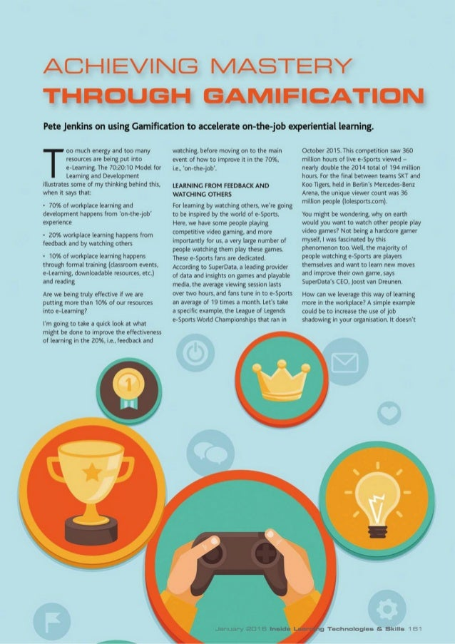 Achieving Mastery Through Gamification