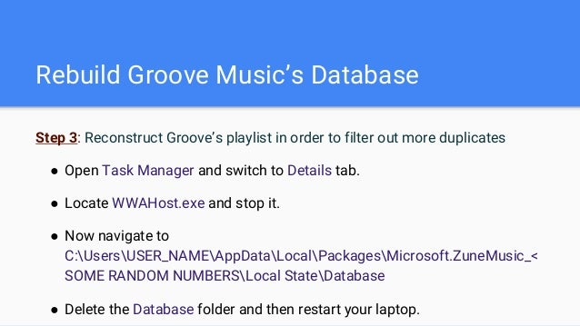 Removing Duplicate Songs from Groove in Windows 10