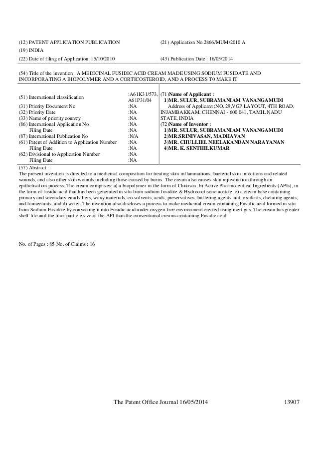 patent application no.1397 mum 2010
